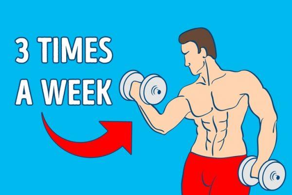 Trainiere mindestens 3 mal pro Woche